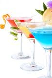 coctailar tropiska martini Fotografering för Bildbyråer