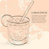 Coctailen Spritz scetch stock illustrationer