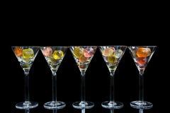 Coctailexponeringsglas Royaltyfria Bilder