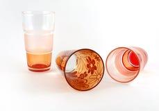 coctailexponeringsglas tre Arkivfoto