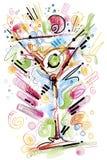 coctailgyckel som har deltagarefolkbarn Royaltyfri Fotografi