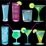 coctailillustrationvektor stock illustrationer