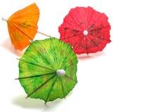coctailparaplyer Arkivbild