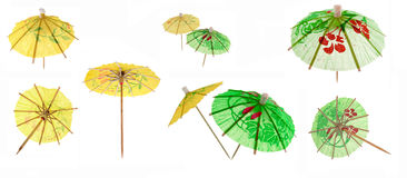 coctailparaplyer royaltyfri bild