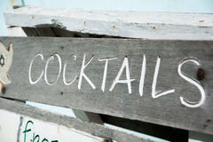 Coctails标志 免版税库存照片