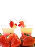 coctails草莓 库存照片