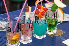 Coctails Fotografia de Stock Royalty Free