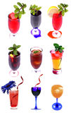 Coctails And Juices Royalty Free Stock Images