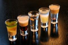 Coctails basó en bebidas espirituosas Foto de archivo