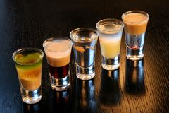 Coctails based on spirits Stock Photo