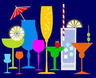 Coctails coloridos Foto de Stock