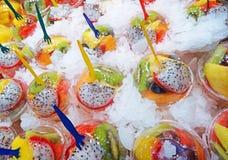 coctails della frutta della bevanda di scossa immagini stock libere da diritti