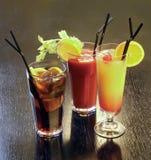 Coctails gründete auf alkoholischem Getränk Lizenzfreies Stockfoto