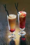 Coctails gründete auf Kaffee Stockfotos