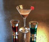 Coctails ha basato sui liquori Fotografie Stock Libere da Diritti