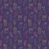 Coctails and ice cream pattern Royalty Free Stock Photos