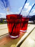 Coctails on a sunny day Stock Photo