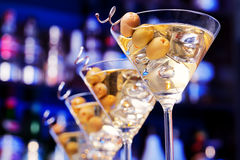 Coctailsamling - Martini Arkivfoton