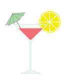 coctailvektor stock illustrationer