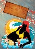 Coctain y fondo del verano libre illustration