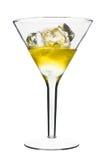 Coctel alcohólico amarillo Fotografía de archivo libre de regalías