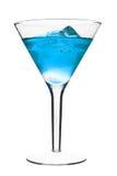 Coctel alcohólico azul Foto de archivo libre de regalías