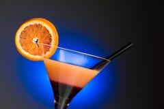 Coctel anaranjado - cierre horizontal para arriba Imagenes de archivo