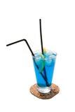 Coctel azul Foto de archivo libre de regalías
