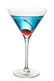 Coctel azul con el camino de la pluma Fotos de archivo