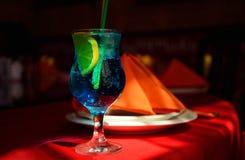 Coctel azul de la laguna Fotografía de archivo libre de regalías