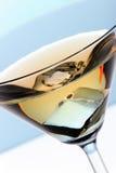 Coctel con hielo en el vidrio de Martini Imagen de archivo