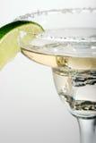 Coctel con hielo en el vidrio de Martini Fotografía de archivo