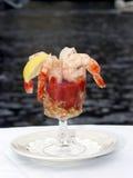 Coctel de camarón enorme imagen de archivo libre de regalías