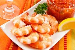 Coctel de camarón festivo Imagenes de archivo