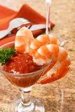Coctel de camarón sabroso Fotografía de archivo libre de regalías