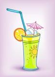 Coctel de la bebida del alimento de la historieta Fotos de archivo