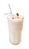 Coctel de la leche con el chocolate aislado en blanco Imagen de archivo
