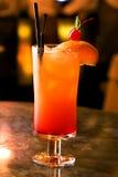 Coctel de la salida del sol del Tequila foto de archivo