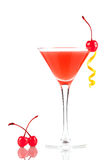 Coctel del alcohol con el zumo y la granadina de naranja imagenes de archivo