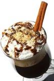 Coctel del invierno - chocolate caliente con ron Fotografía de archivo