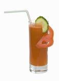 Coctel del jugo de zanahorias Imagen de archivo libre de regalías
