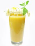 Coctel del plátano de la fruta Imagen de archivo