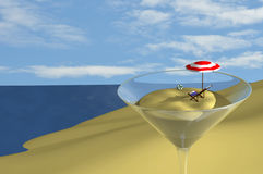 Coctel en la playa Imagen de archivo libre de regalías