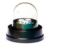 Coctelera de cristal de los dados de la bóveda Imagenes de archivo