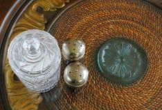 Coctelera de sal de plata y de pimienta Fotografía de archivo libre de regalías