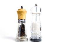 Coctelera de sal y de pimienta Fotografía de archivo