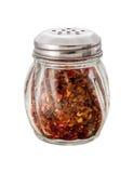 Coctelera machacada de la pimienta roja Imágenes de archivo libres de regalías