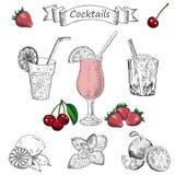 cocteles Stock de ilustración