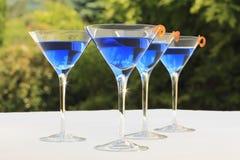 Cocteles azules Imagen de archivo libre de regalías