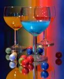 Cocteles de Colorfull foto de archivo